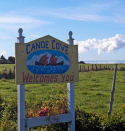 Canoe Cove Sign